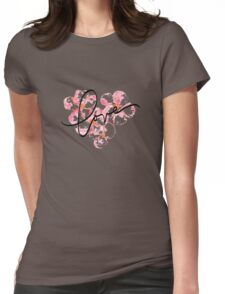 Plumeria Love Womens Fitted T-Shirt