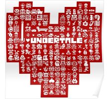 Undertale Heart Character Poster