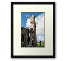 historic rock of Cashel ruins Framed Print