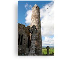 historic rock of Cashel ruins Canvas Print