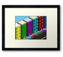 Retro City Framed Print
