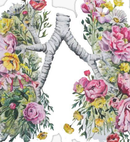 Flower Lungs Sticker