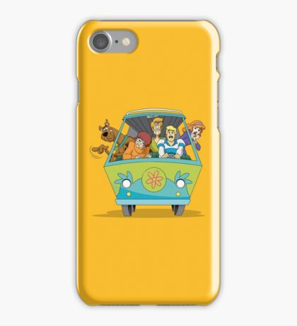 Scooby Doo Gang on Bus iPhone Case/Skin