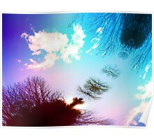 Psychedelic Sky Candy Poster