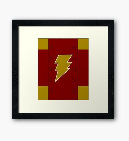 Magic Lightning Hero Framed Print