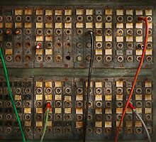 Steampunk - Phones - The old switch board by Mike  Savad