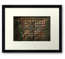 Steampunk - Phones - The old switch board Framed Print