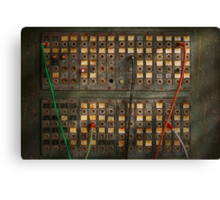 Steampunk - Phones - The old switch board Canvas Print