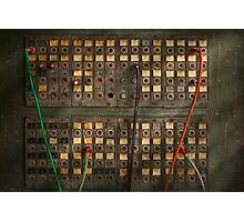 Steampunk - Phones - The old switch board Photographic Print
