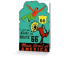 Route 66 Main Street of America Vintage Travel Decal Greeting Card