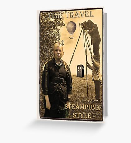 Time travel Steampunk Style Greeting Card