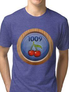 Glitch Achievement overpaid executive fruit tree harvester Tri-blend T-Shirt