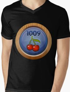 Glitch Achievement overpaid executive fruit tree harvester Mens V-Neck T-Shirt