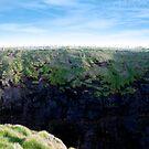high green cliffs by morrbyte
