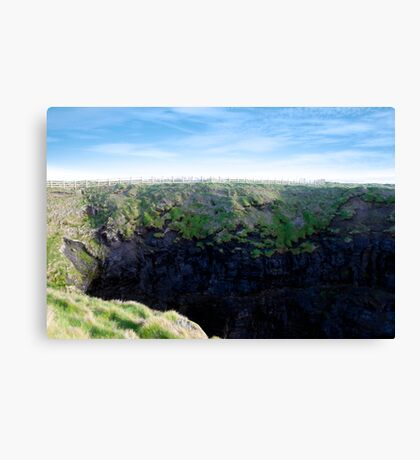 high green cliffs Canvas Print