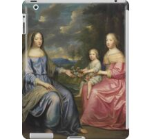 After Charles Beaubrun(French, )Group portrait of Anne of Austria, widow of the French iPad Case/Skin