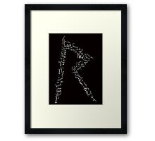 Logo Love (White topography) Framed Print