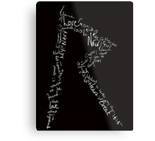 Logo Love (White topography) Metal Print