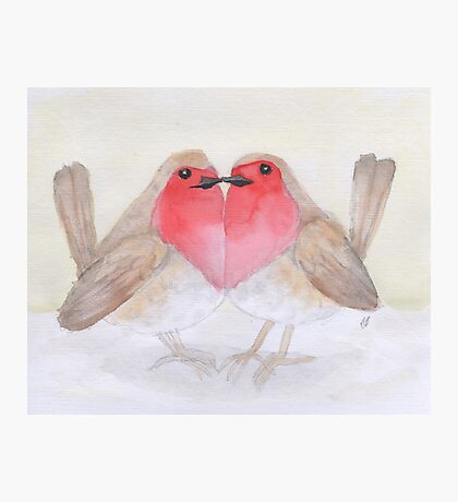 I heart red robins Photographic Print
