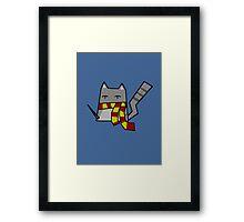 Gryffindor Kitty Framed Print
