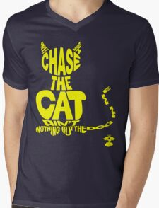 Chase the Cat - Cloud Nine (Yellow) Mens V-Neck T-Shirt