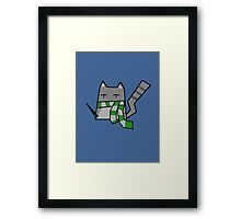 Slytherin Kitty Framed Print