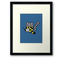 Hufflepuff Kitty Framed Print
