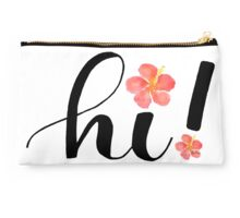 """Hi! Hawaii """"hello"""" with Hibiscus! (A little larger!) Studio Pouch"""