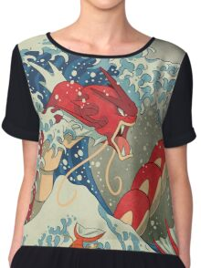 The Great Red Wave Chiffon Top