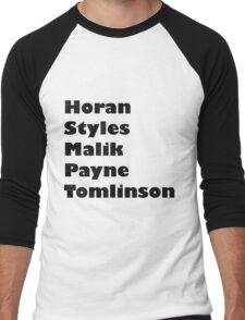 one direction- last names Men's Baseball ¾ T-Shirt
