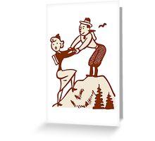 Hike Hiking Vintage Greeting Card