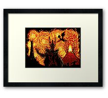 Starry Middle Earth Framed Print