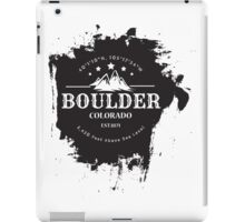 Rock Climbing Boulder Colorado iPad Case/Skin