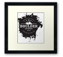 Rock Climbing Boulder Colorado Framed Print