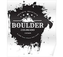 Rock Climbing Boulder Colorado Poster