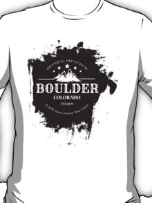 Rock Climbing Boulder Colorado T-Shirt