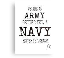 We are Rihanna Navy (Black typography) Metal Print
