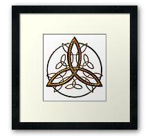 Bee Celtic Triquetra Framed Print