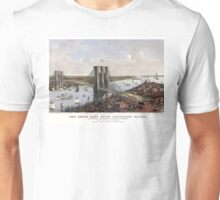 New York - Great East River Suspension Bridge - 1885 Unisex T-Shirt