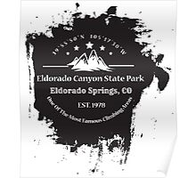 Rock Climbing Eldorado Canyon State Park Poster
