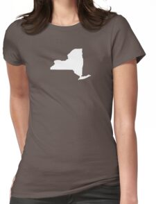 New York Plain Womens Fitted T-Shirt