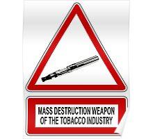 e-cigarette vs tobacco Poster