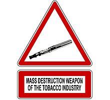 e-cigarette vs tobacco Photographic Print