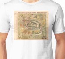 Map of Moscow- 1882 Unisex T-Shirt