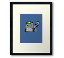 Luigi Cat Framed Print
