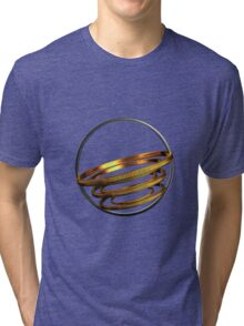 abstract gold and silver ring Tri-blend T-Shirt