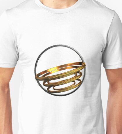 abstract gold and silver ring Unisex T-Shirt