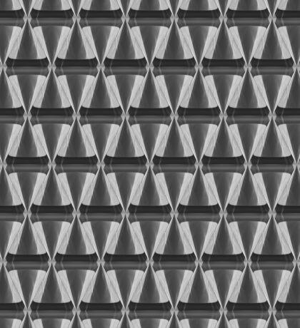 3d crystal cone pattern white Sticker