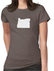 Oregon Plain Womens Fitted T-Shirt