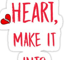 Broken heART (Red) Sticker